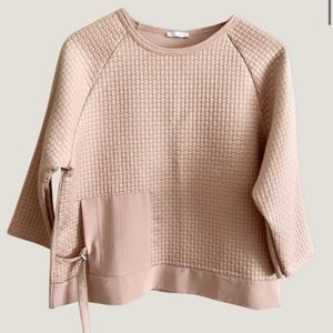 ZARA Quilted Blouse